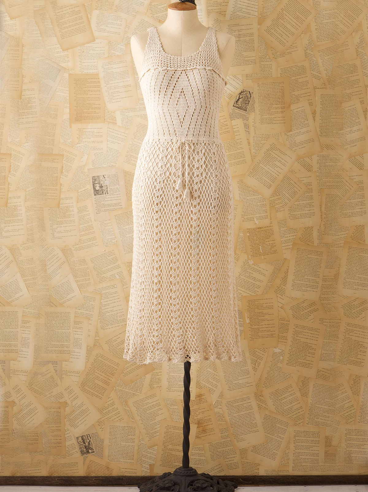 Vintage Crochet Tank Dress