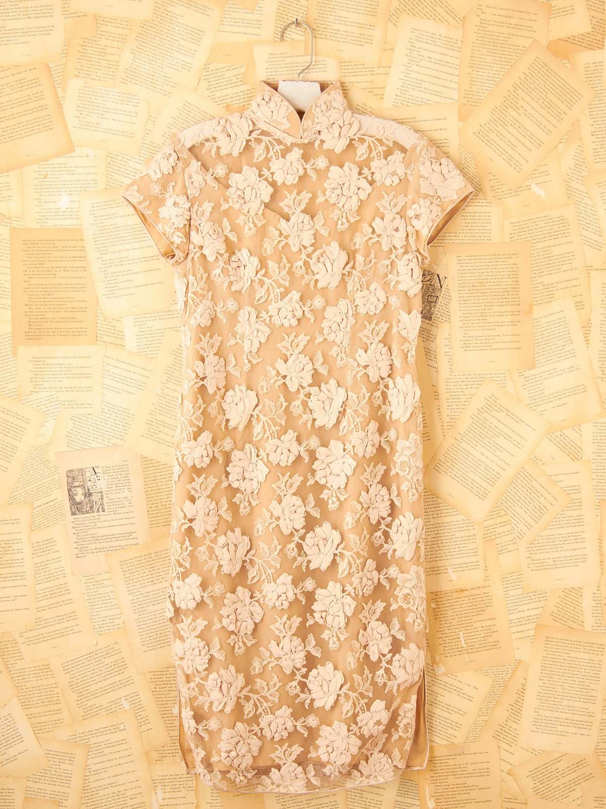 Vintage Lace Mandarin Dress