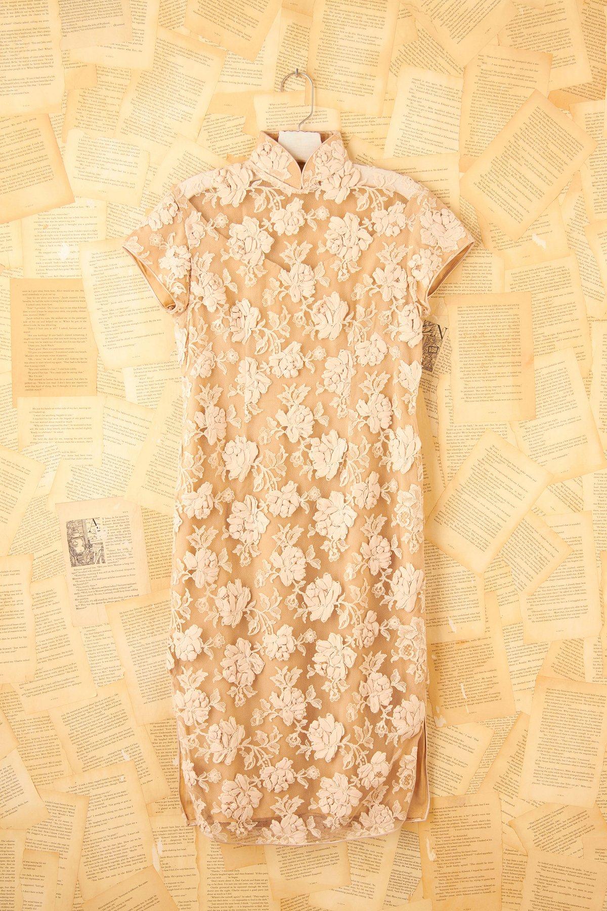 Vintage Lace Mandarin Dress