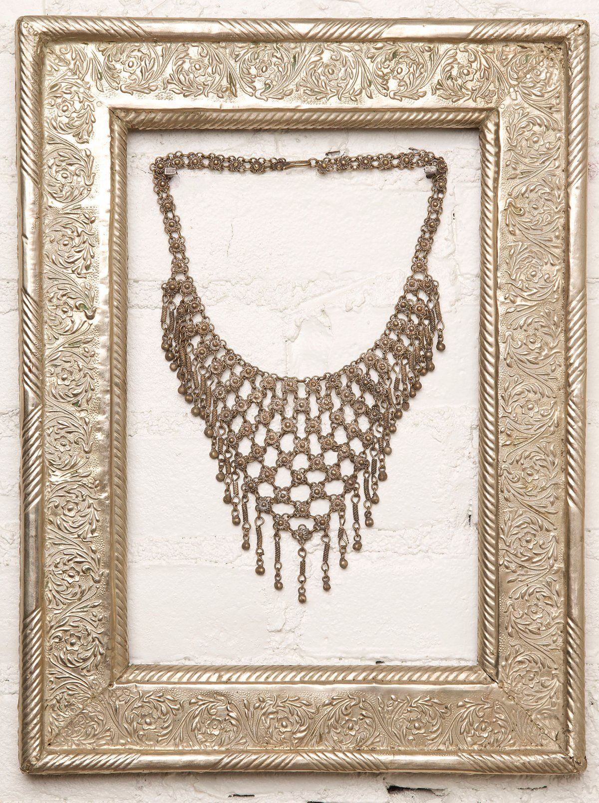 Vintage Tribal Metal Necklace