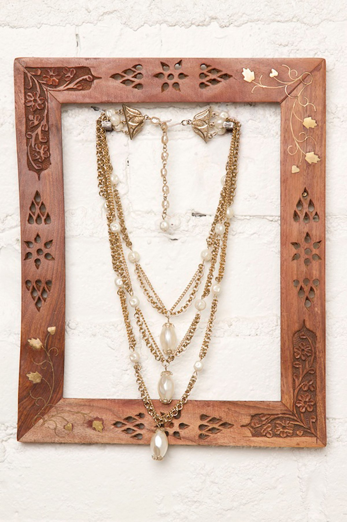 Vintage Tiered Gold Necklace