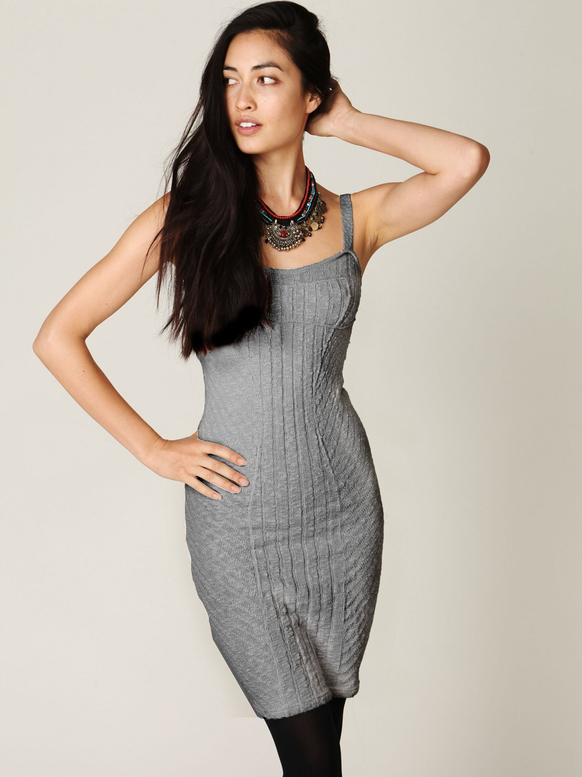 Ribbed Column Sweater Dress