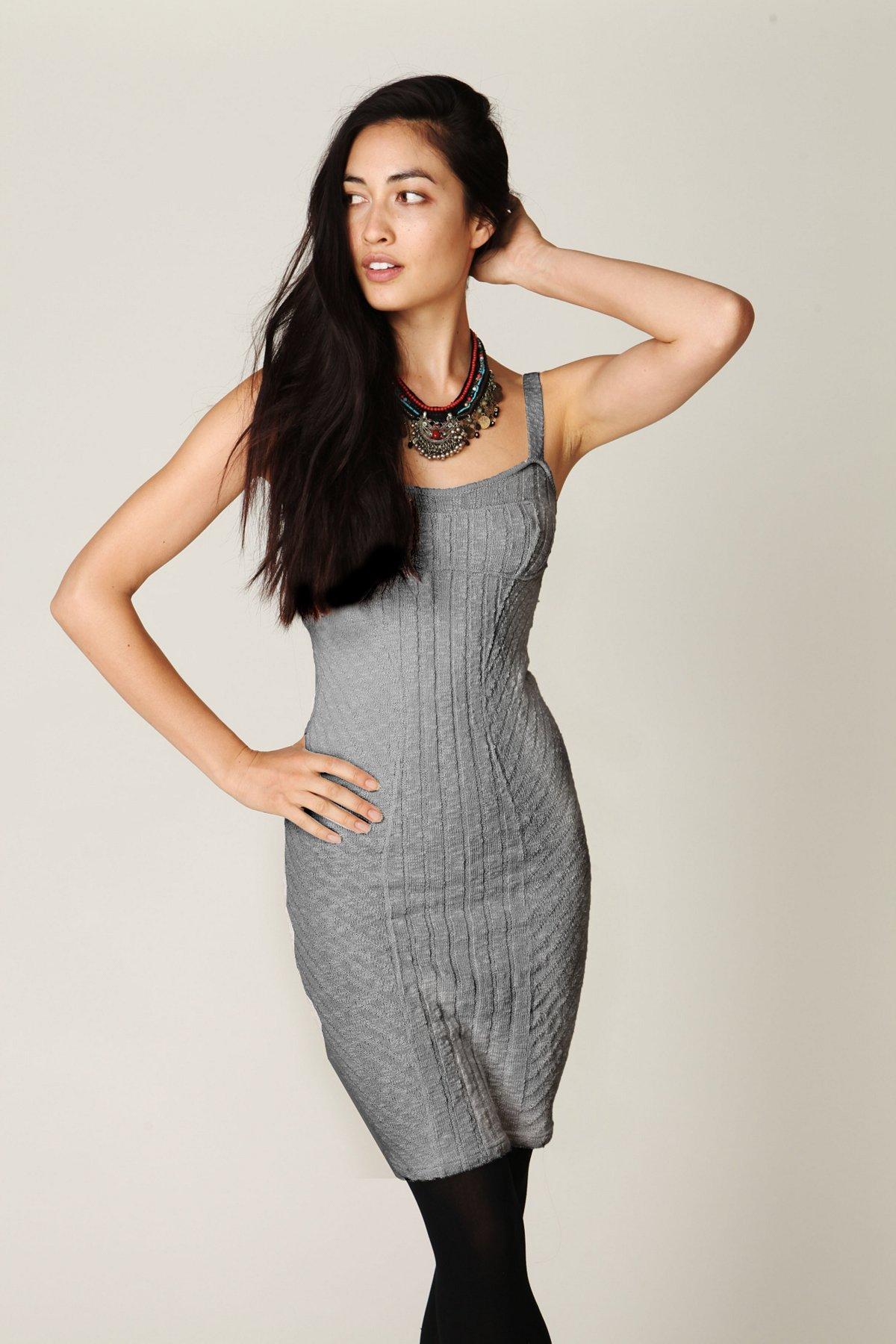 Ribbed Column Sweater Dress