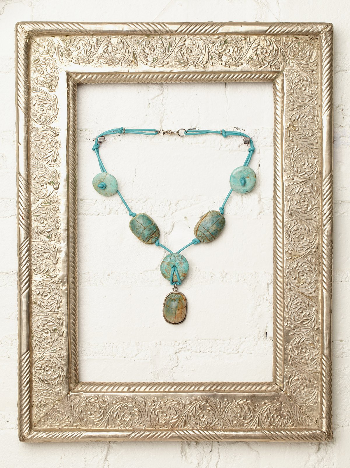 Vintage Egyptian Scarab Necklace