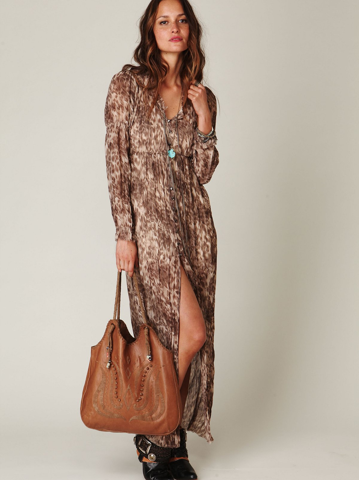 Dreamtime Leopard Maxi Dress