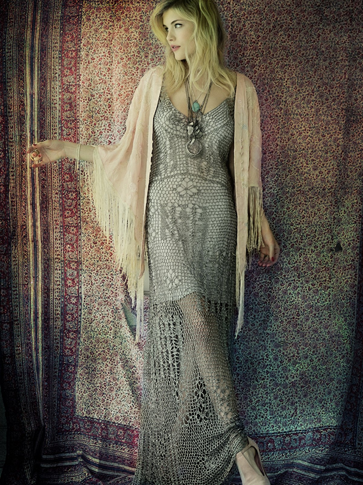 FP Spun Dreams of Crochet Dress
