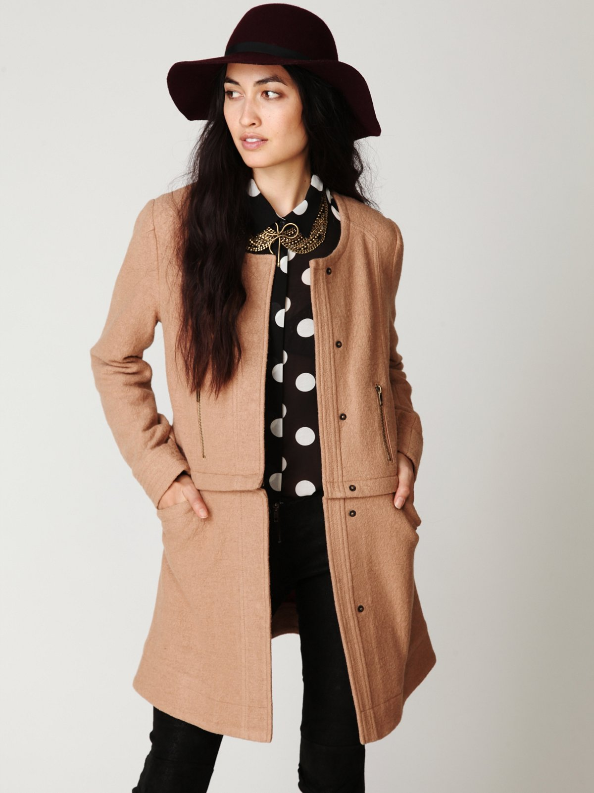 Convertible Wool Coat
