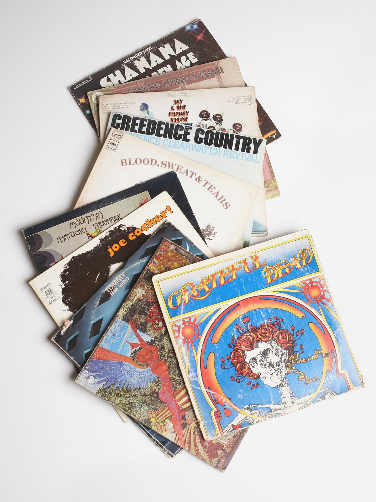Vintage Woodstock Record Collection