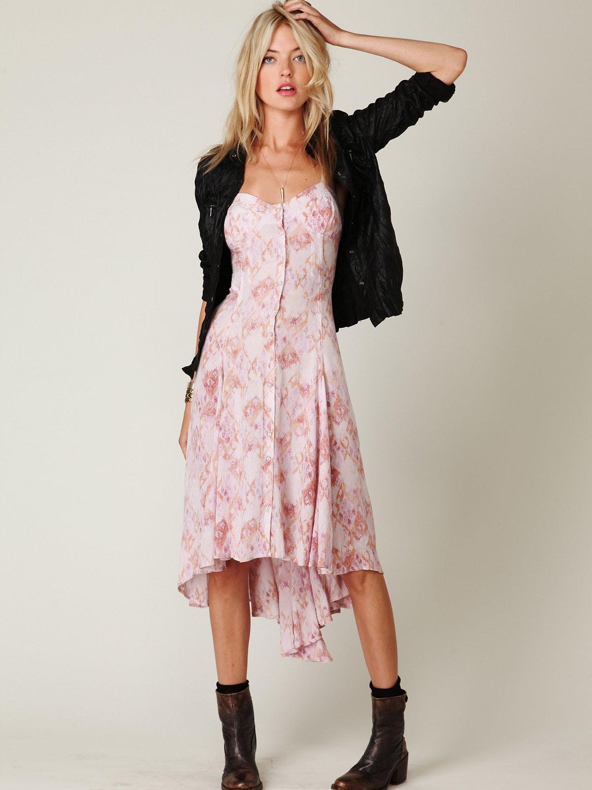 FP New Romantics Printed Buttondown Dress
