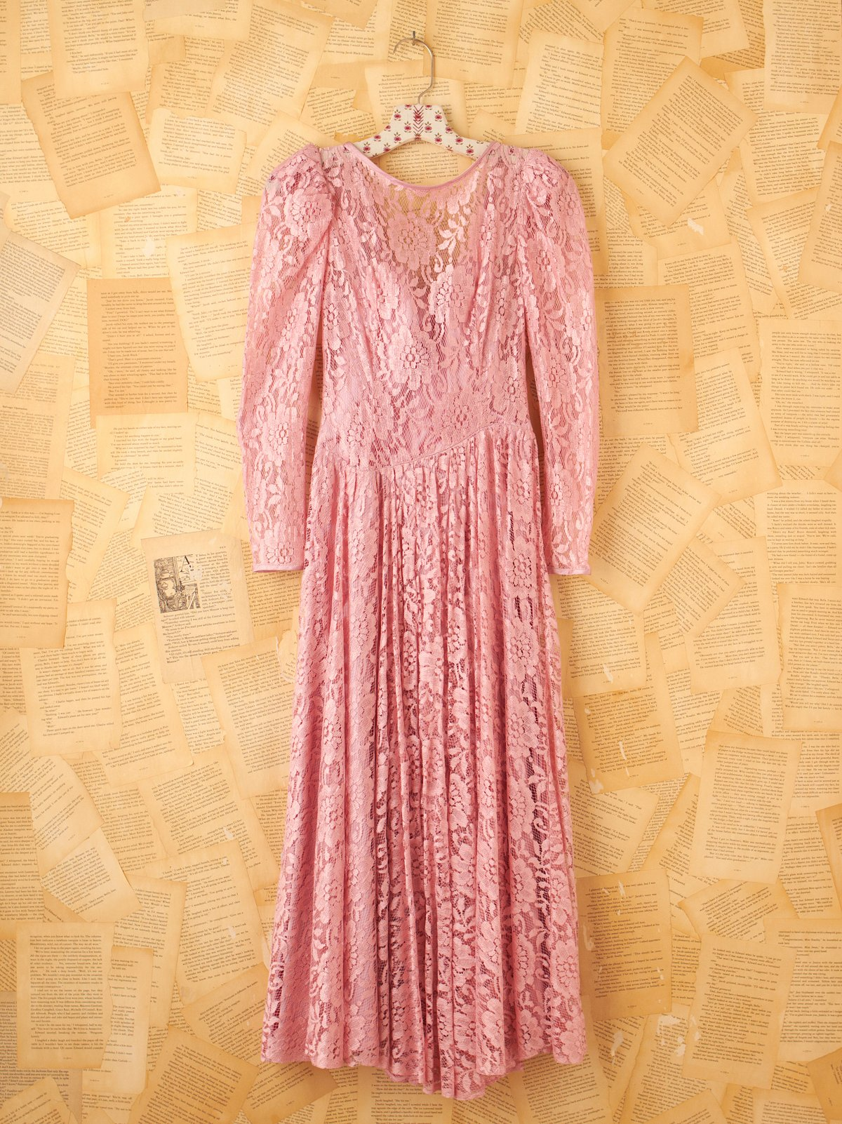 Vintage Pink Lace Princess Dress