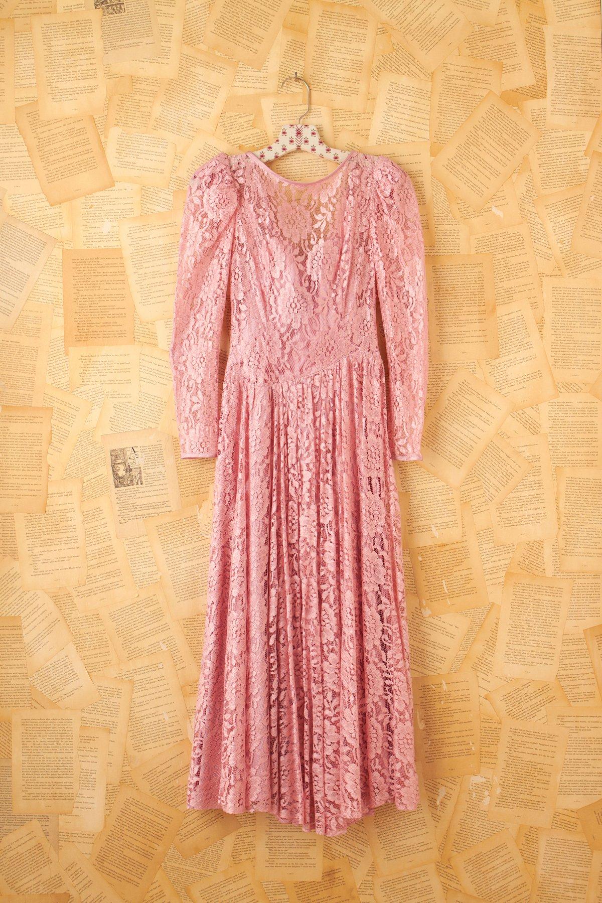 Vintage Pink Lace Princess Dress