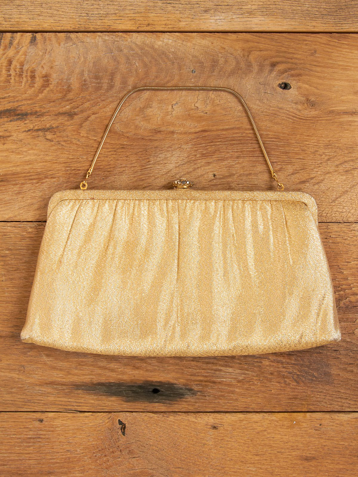 Vintage Gold Colored Clutch