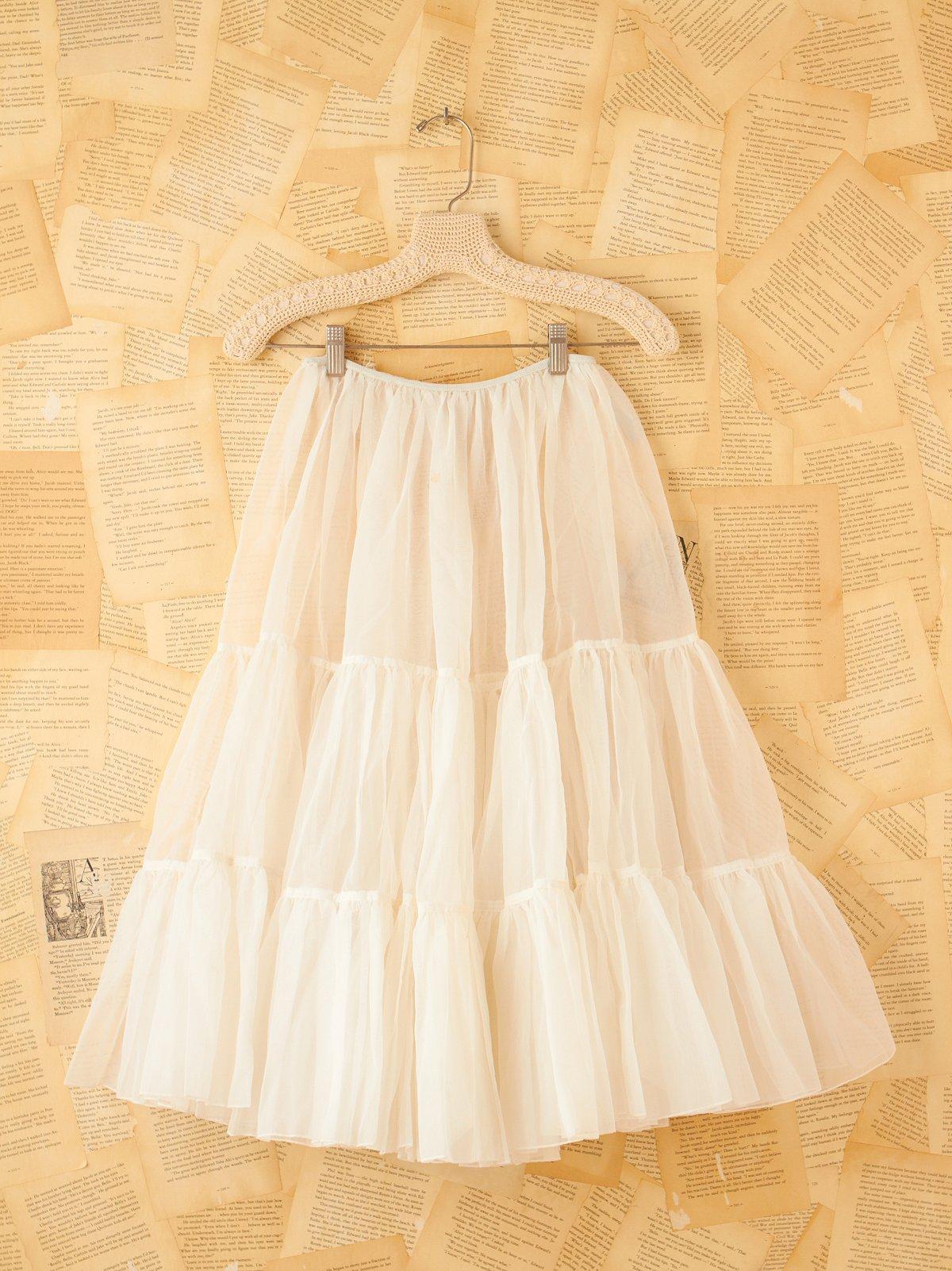 Vintage White Tulle Slip