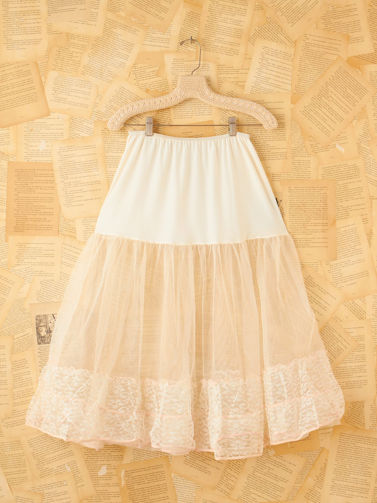 Vintage Lace and Tulle Slip