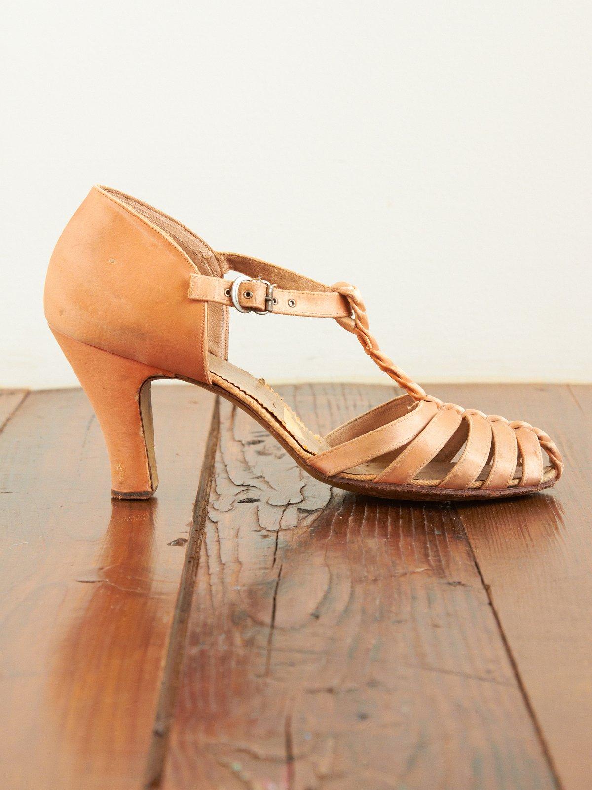 Vintage Silk Covered Heels