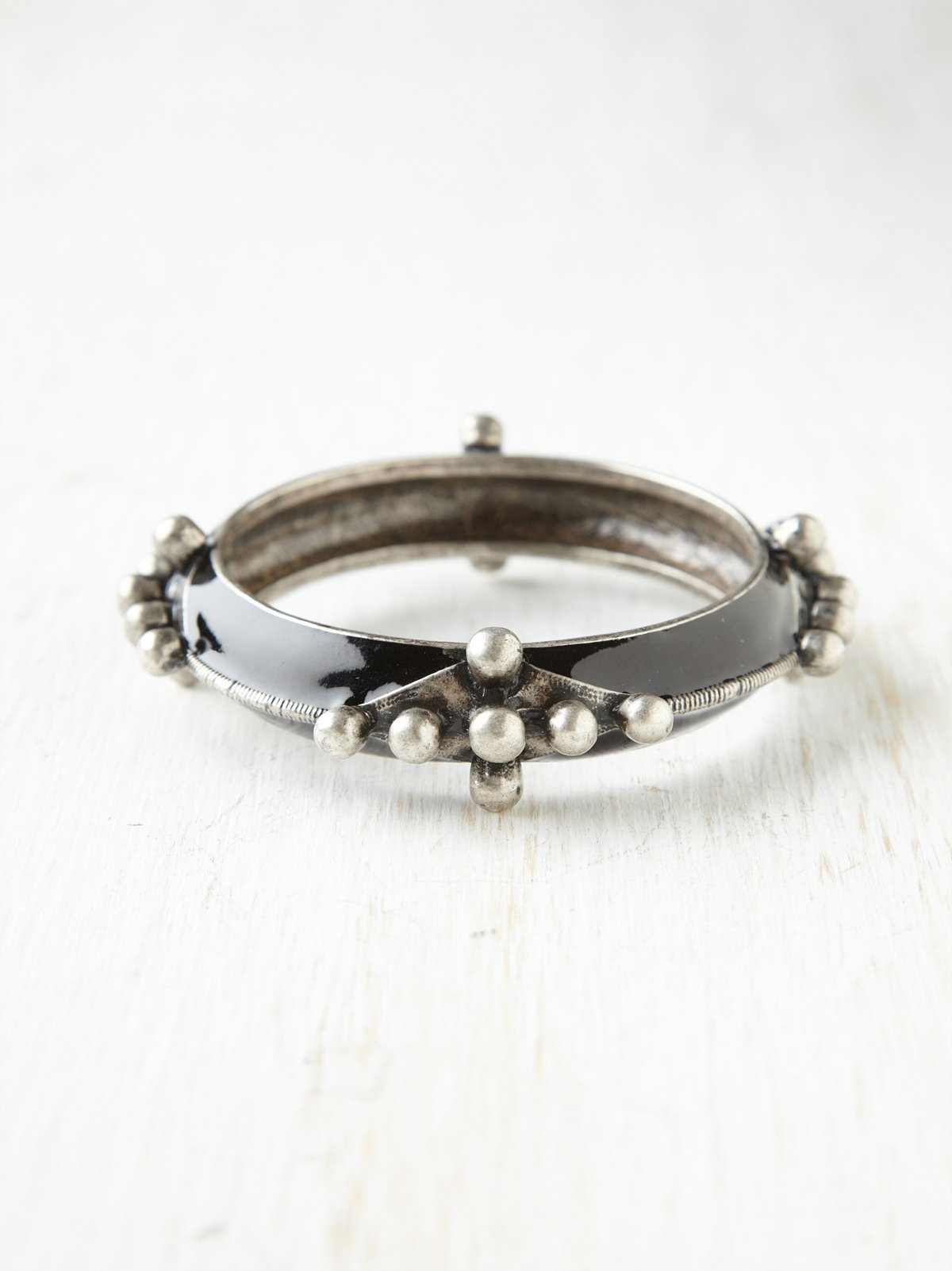 Studded Enamel Bangle