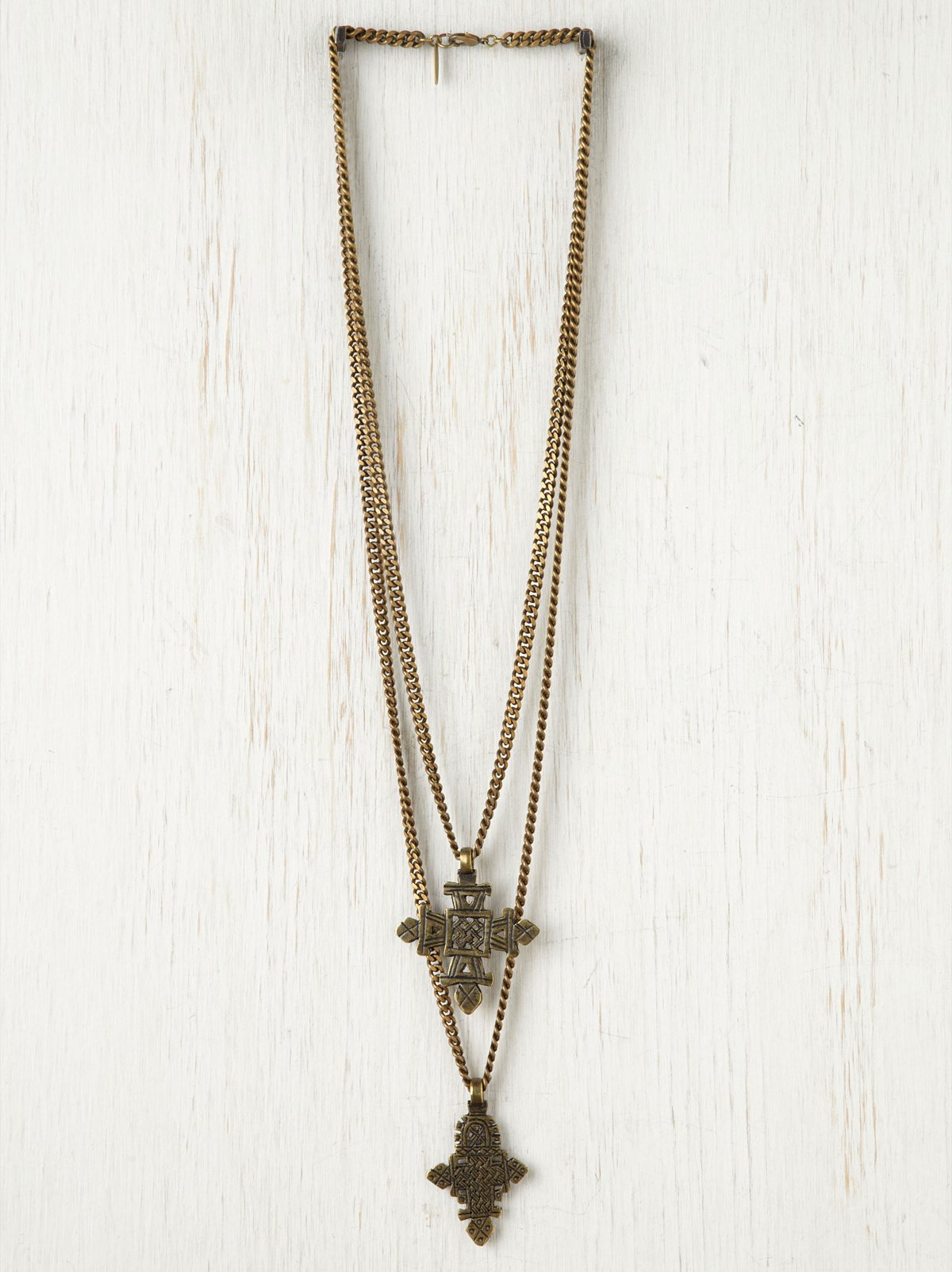 Ethiopian Double Cross Necklace