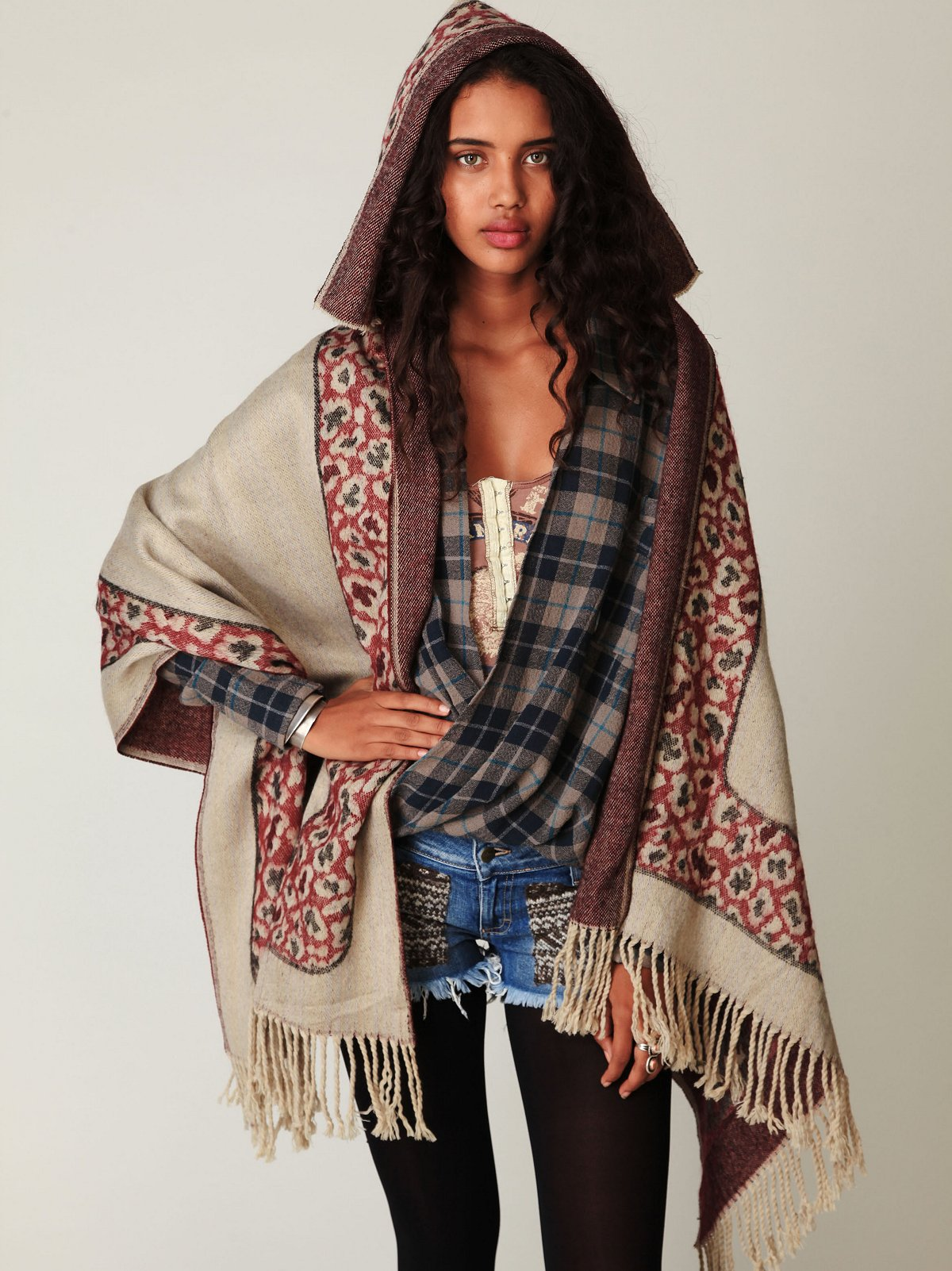 Wester Hooded Poncho