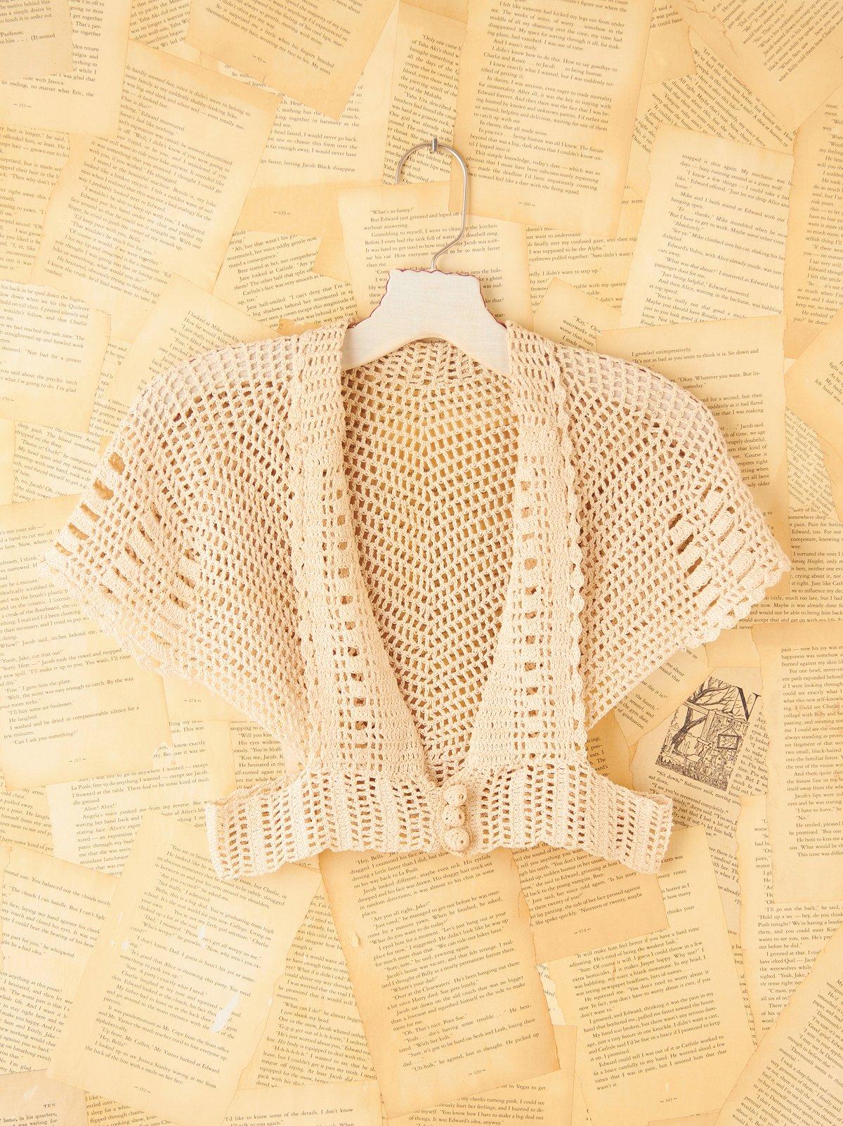 Vintage Crochet Shrug