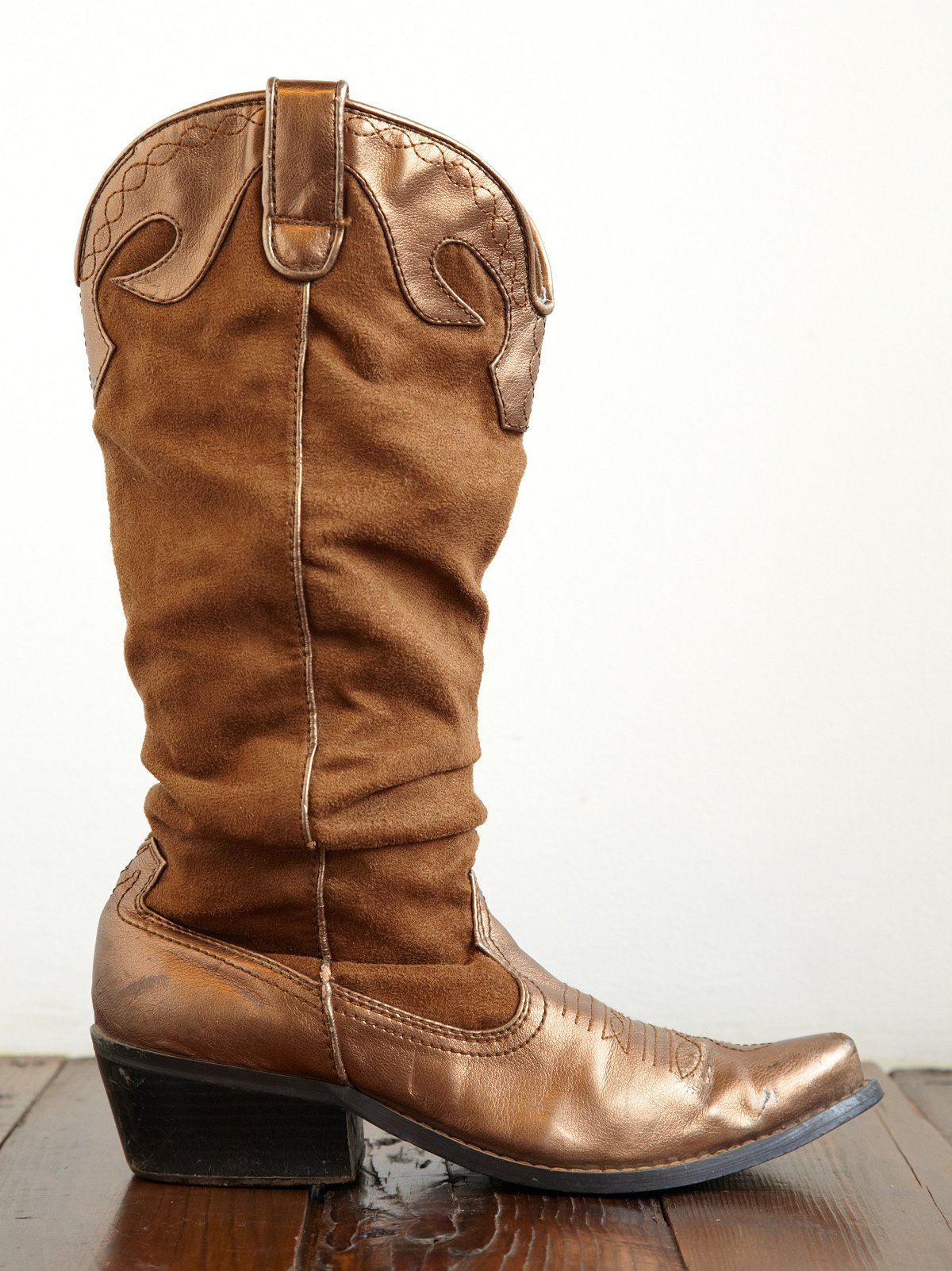 Vintage Scrunched Cowboy Boots