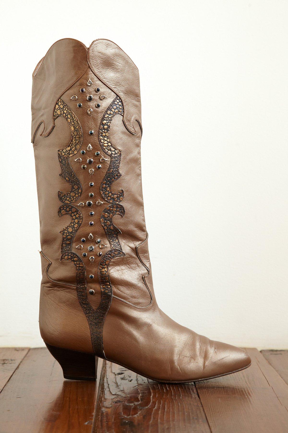 Vintage Rhinestone Boots