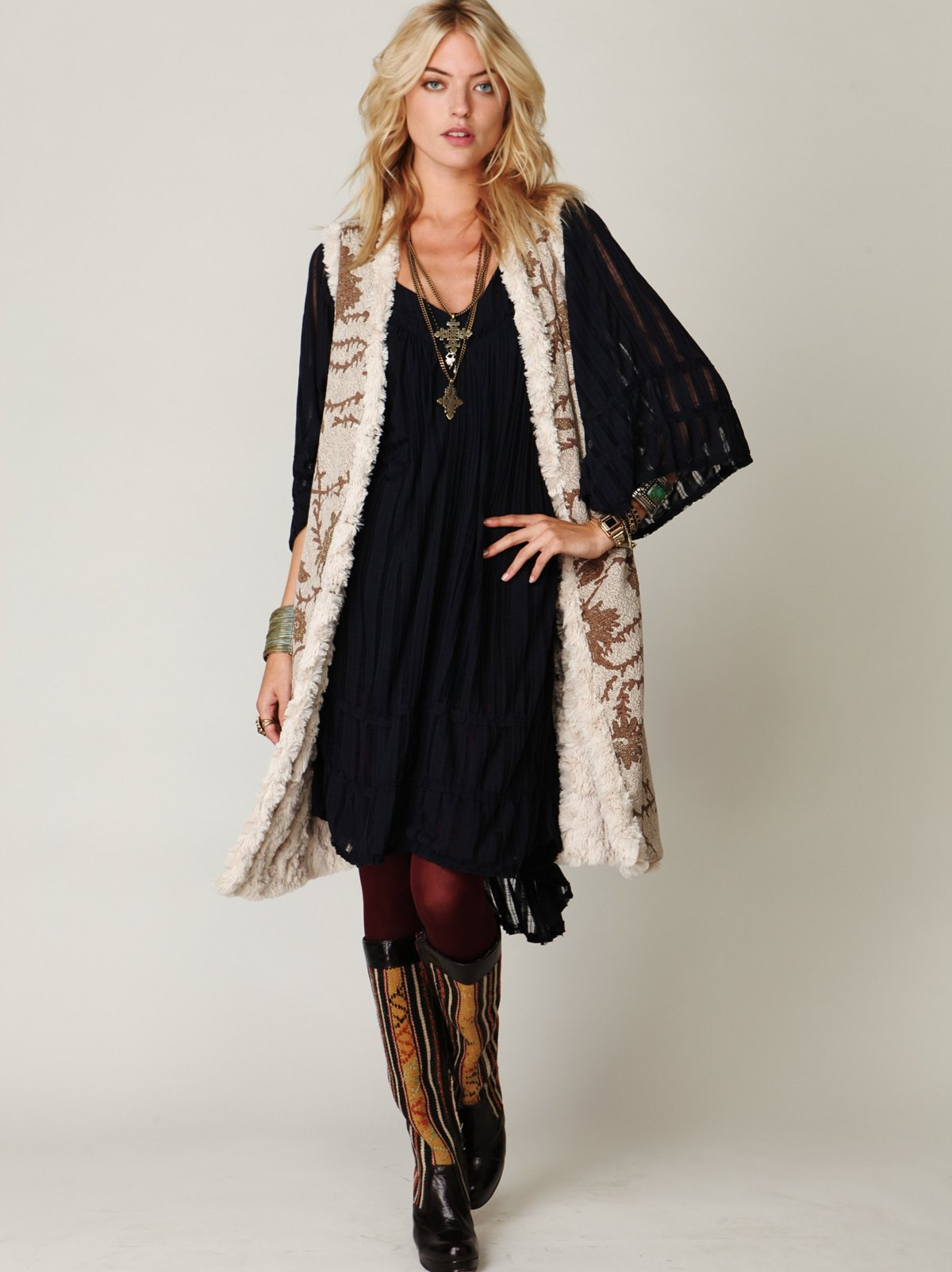 Long Reversible Fur Vest