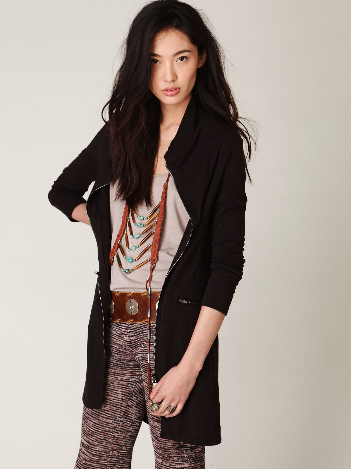 Long and Lean Ponte Jacket