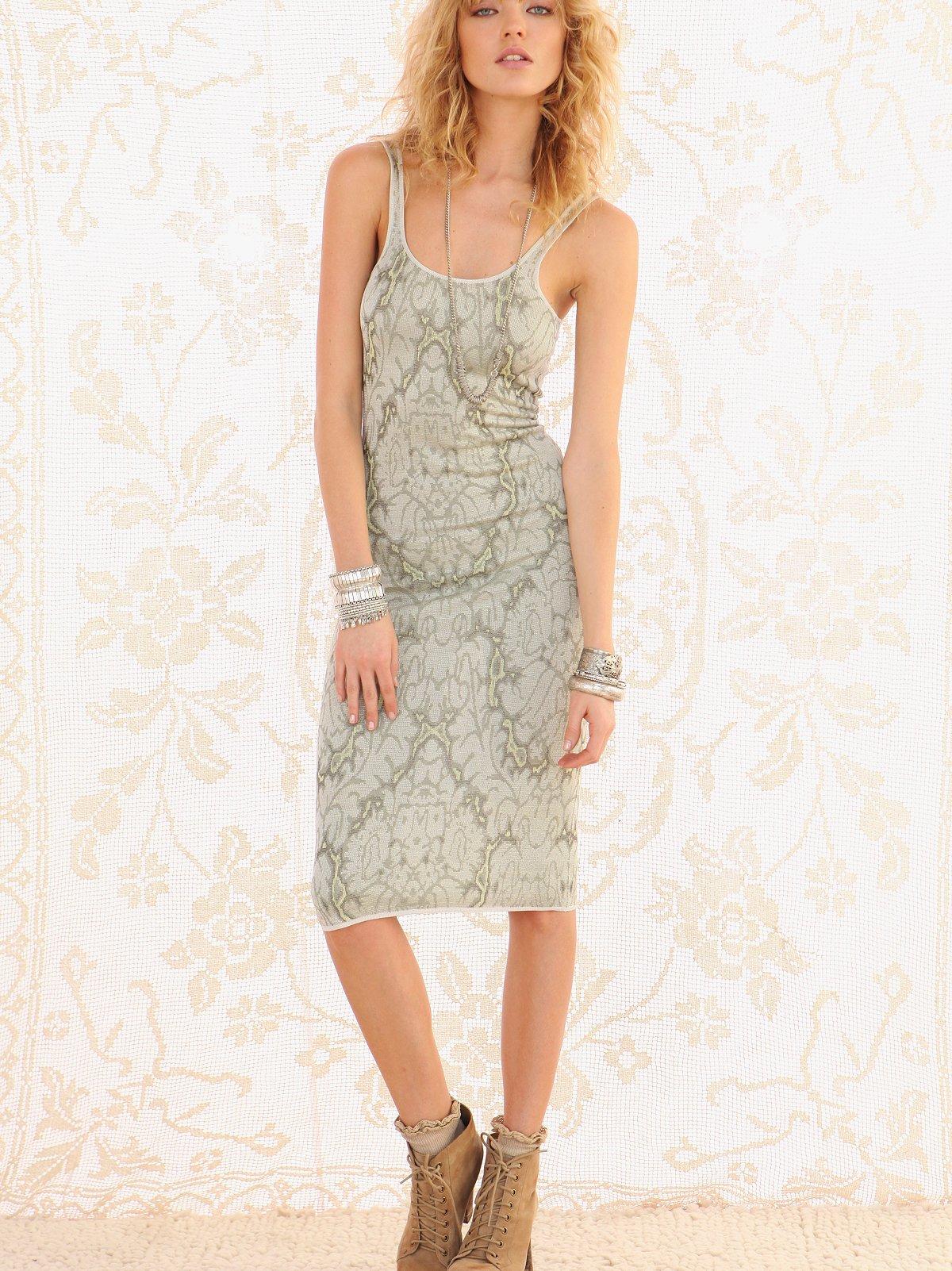 FP Spun Macro Leaf Dress
