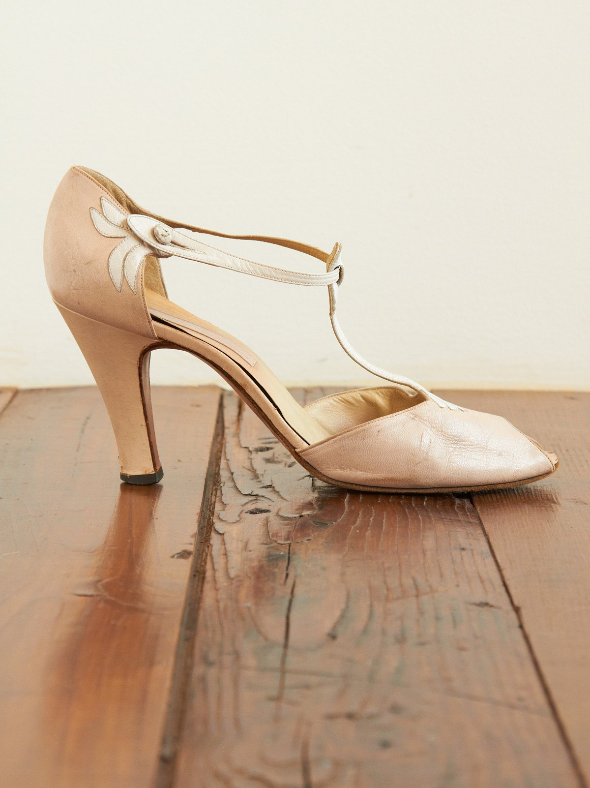 Vintage Joan and David T-strap Heels
