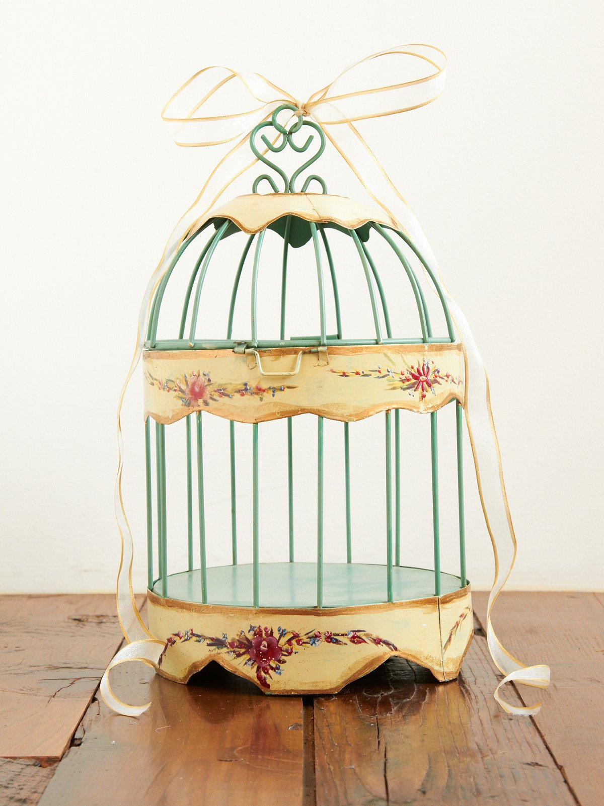 Vintage Small Tin Birdcage