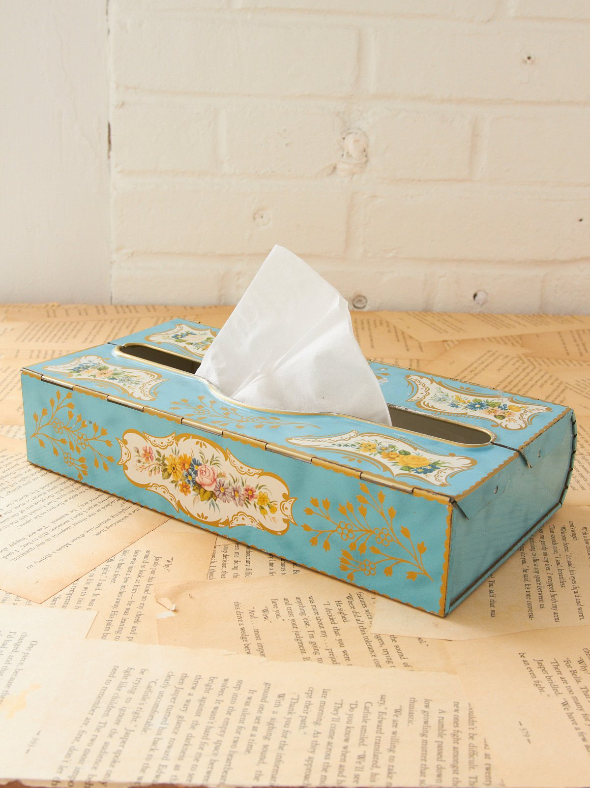 Vintage Tin Tissue Box