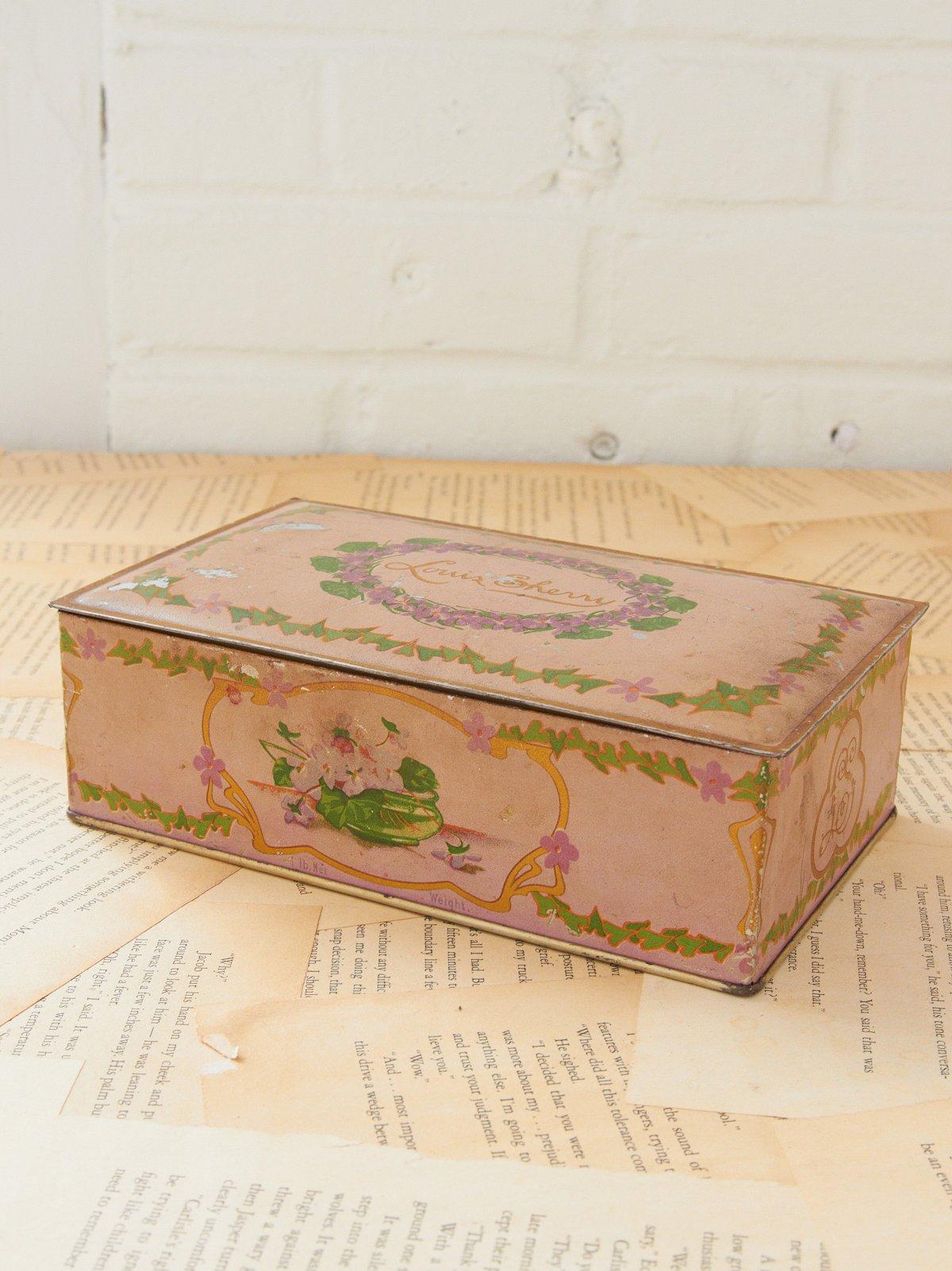 Vintage Louis Sherry Tin Box