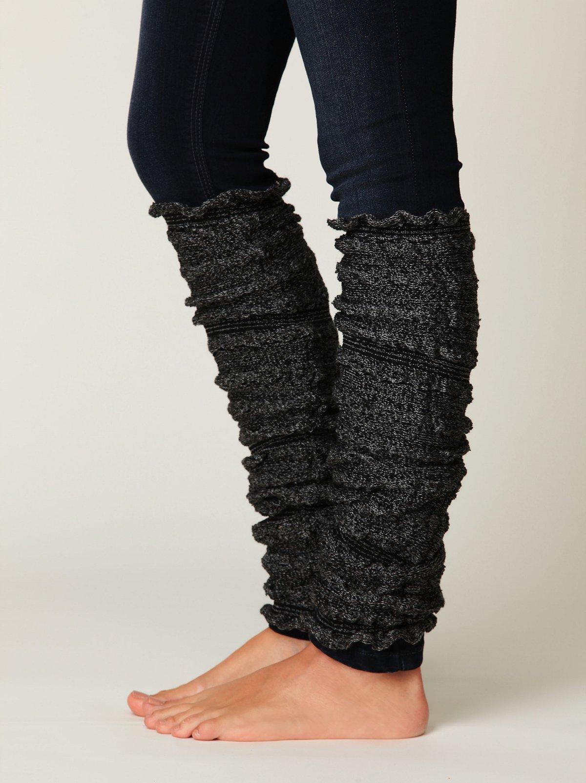 Ruched Knit Legwarmer