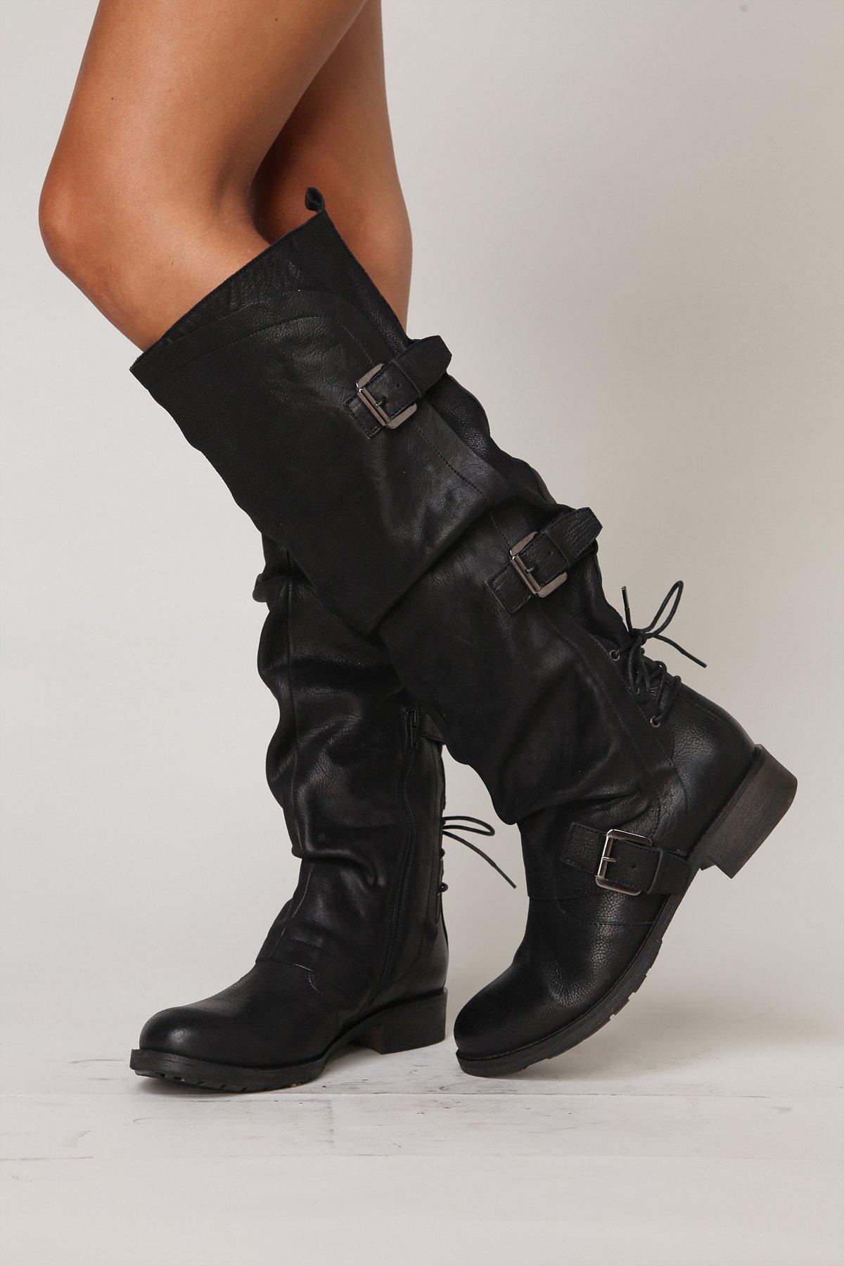 Marl Buckle Tall Boot