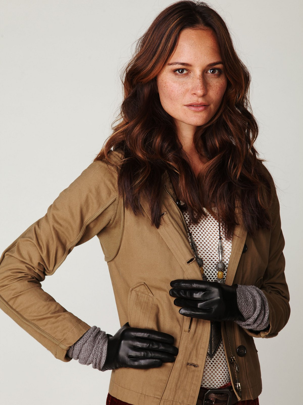 Carme Leather and Sweater Glove