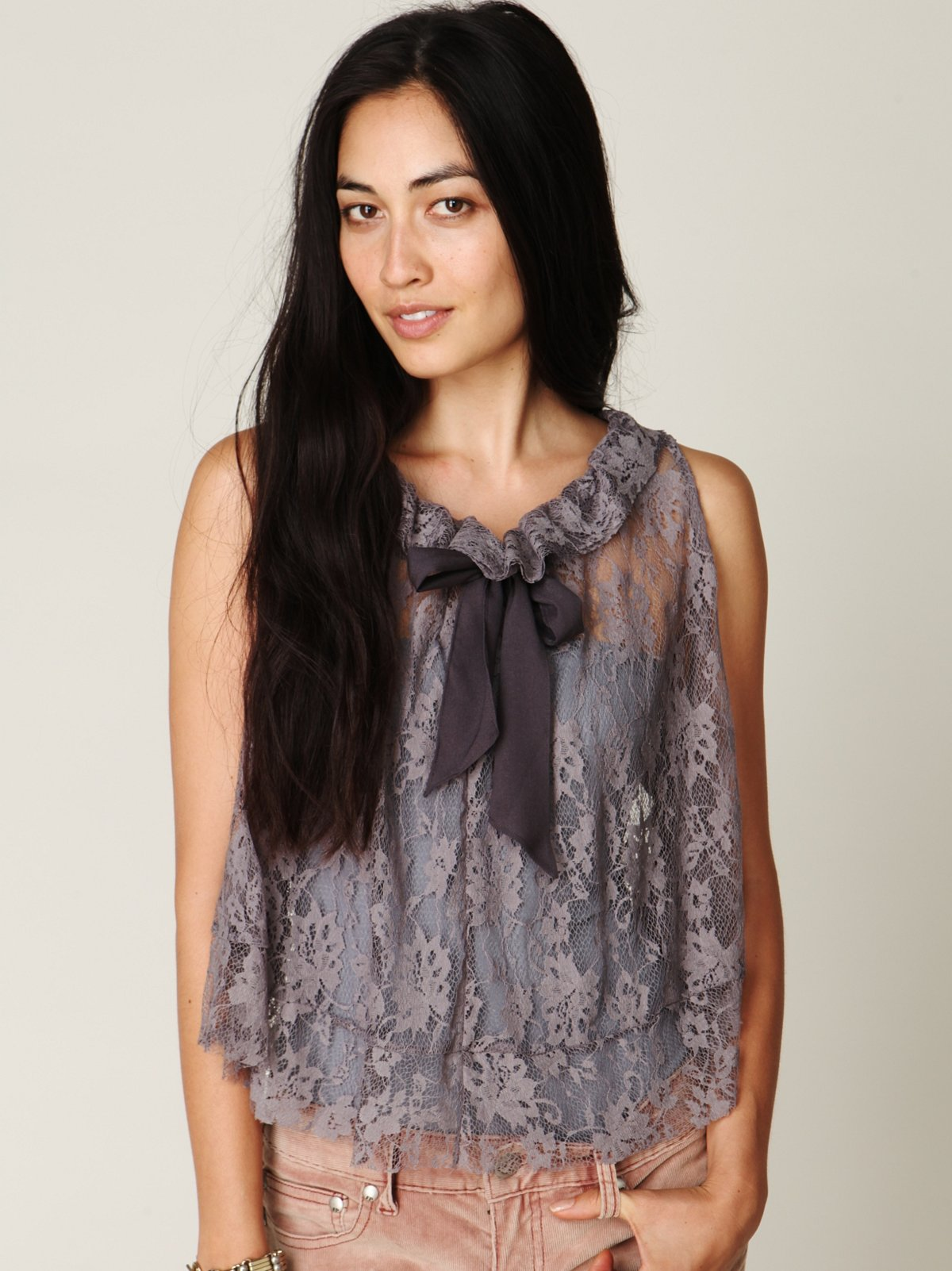 Lovely Lace Tie Top