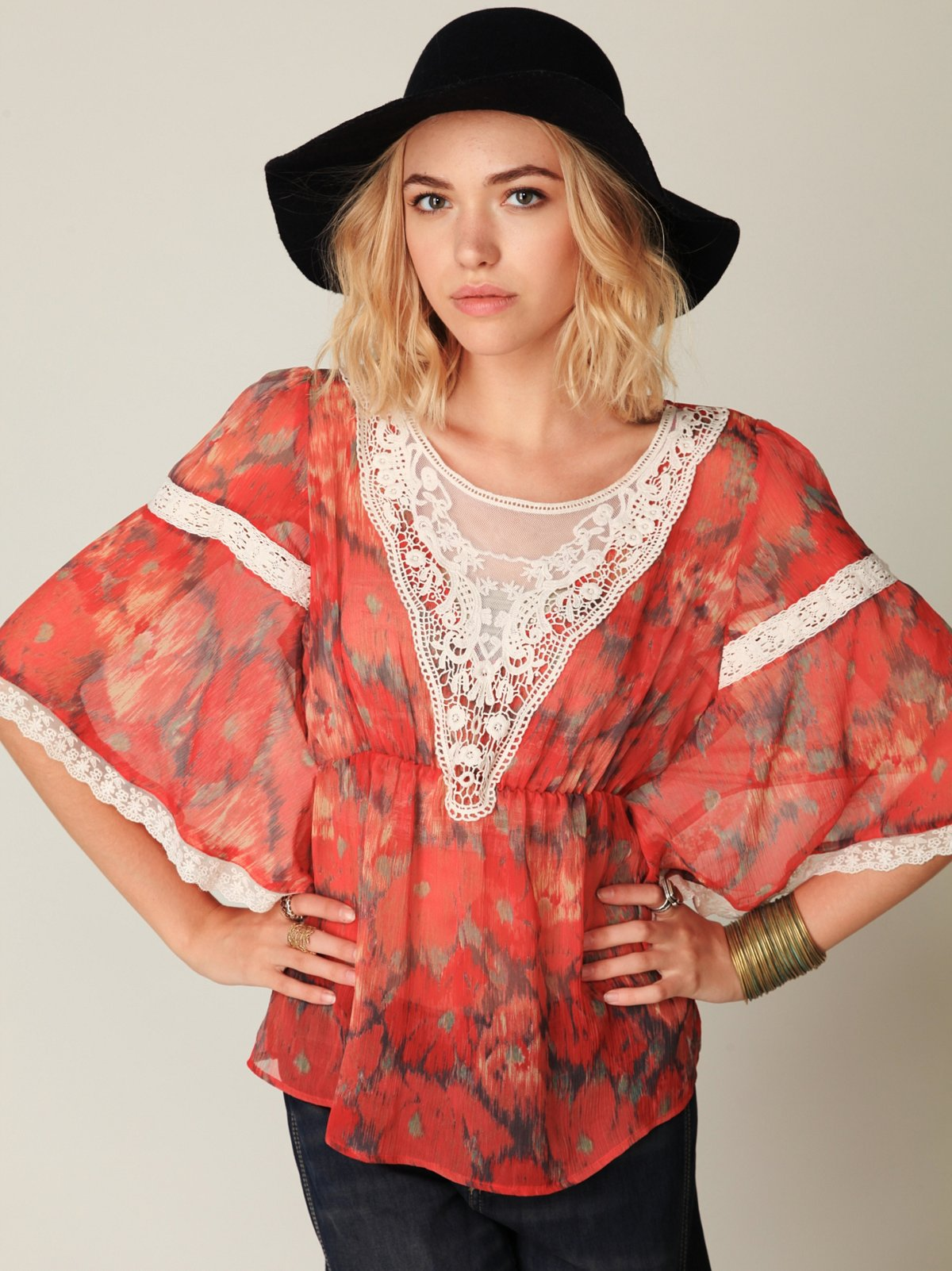 Printed Daydream Top