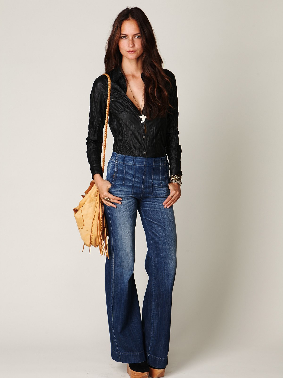 Darted High Waist Jean