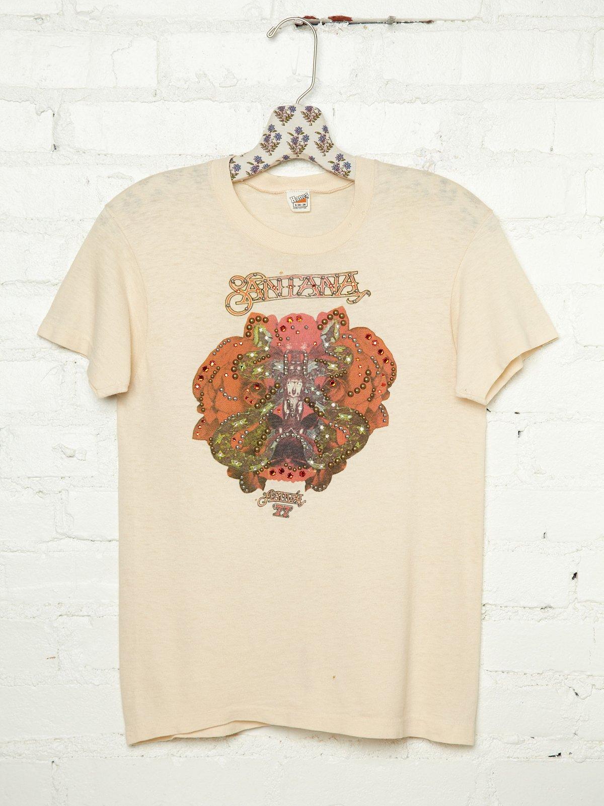 Vintage Studded 1977 Santana Tee