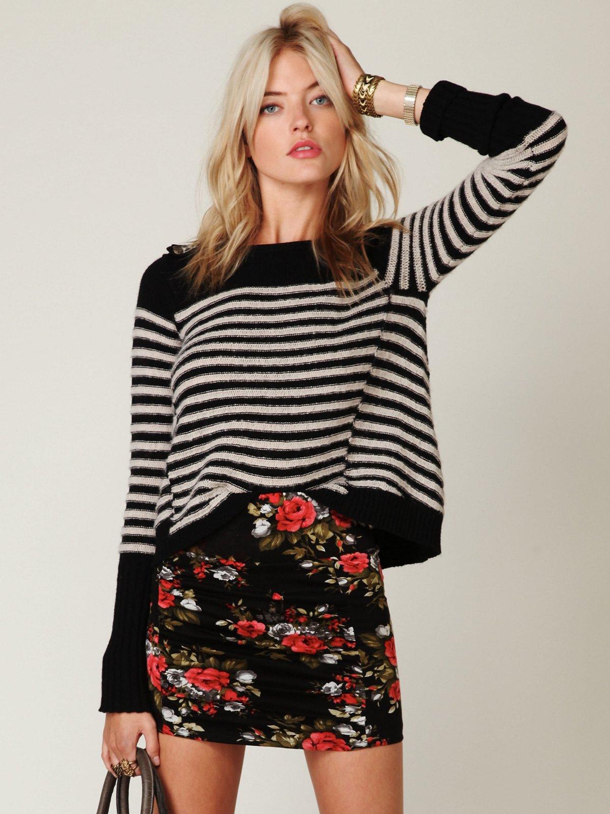 Floral Print Scrunch Skirt