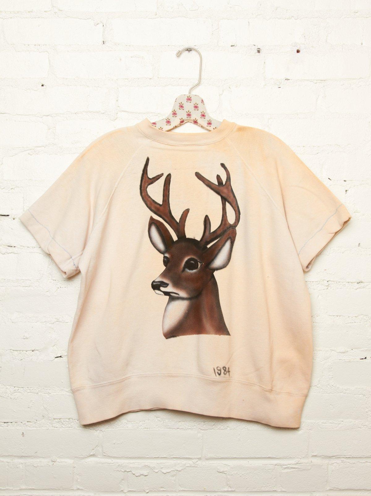 Vintage Airbrushed Deer Sweatshirt
