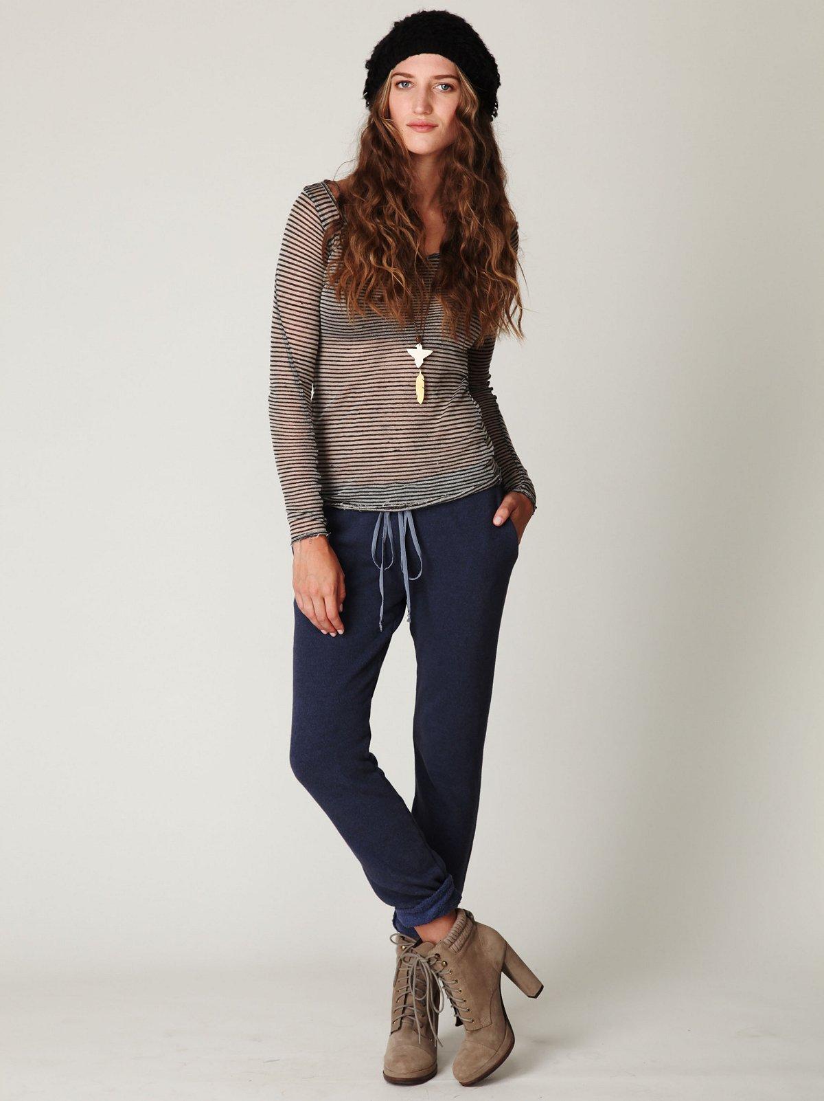 Fleece Pants With Silk Trim