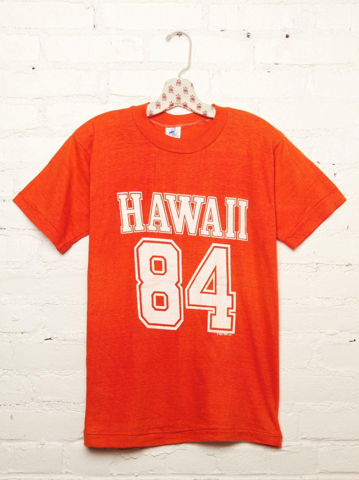 Vintage Orange Hawaii 84 Tee