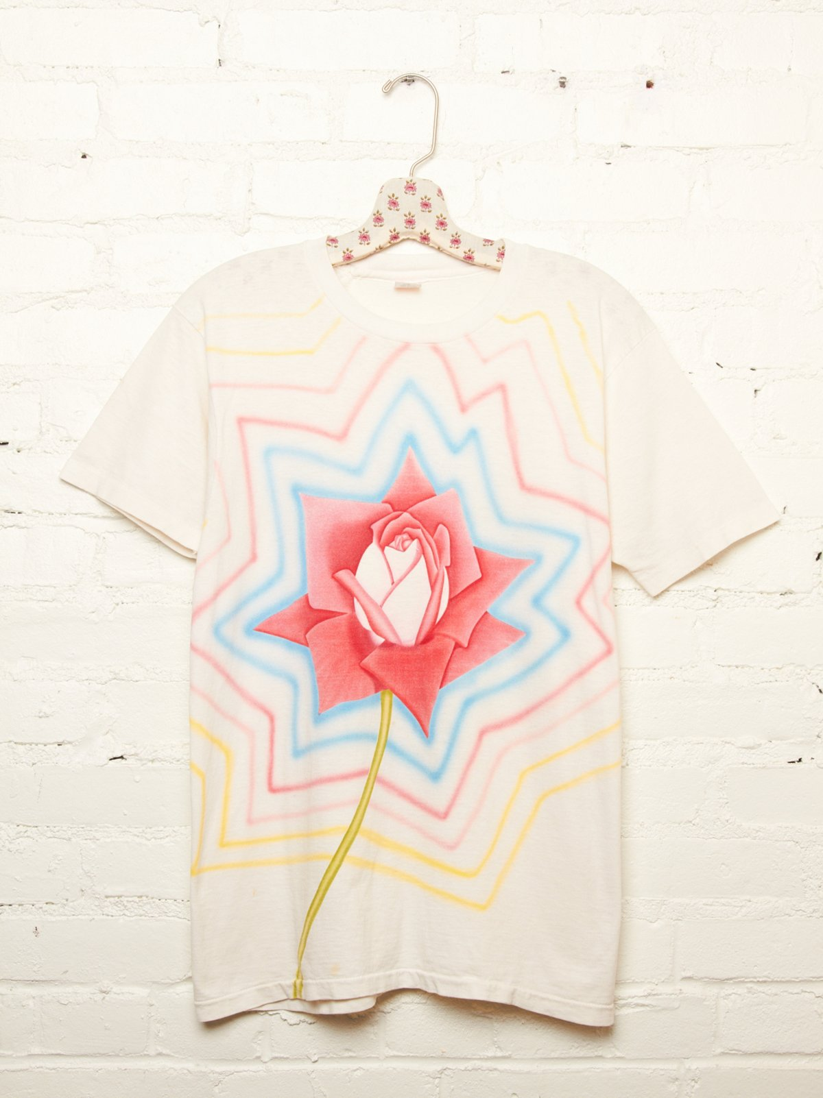 Vintage Airbrushed Rose Tee