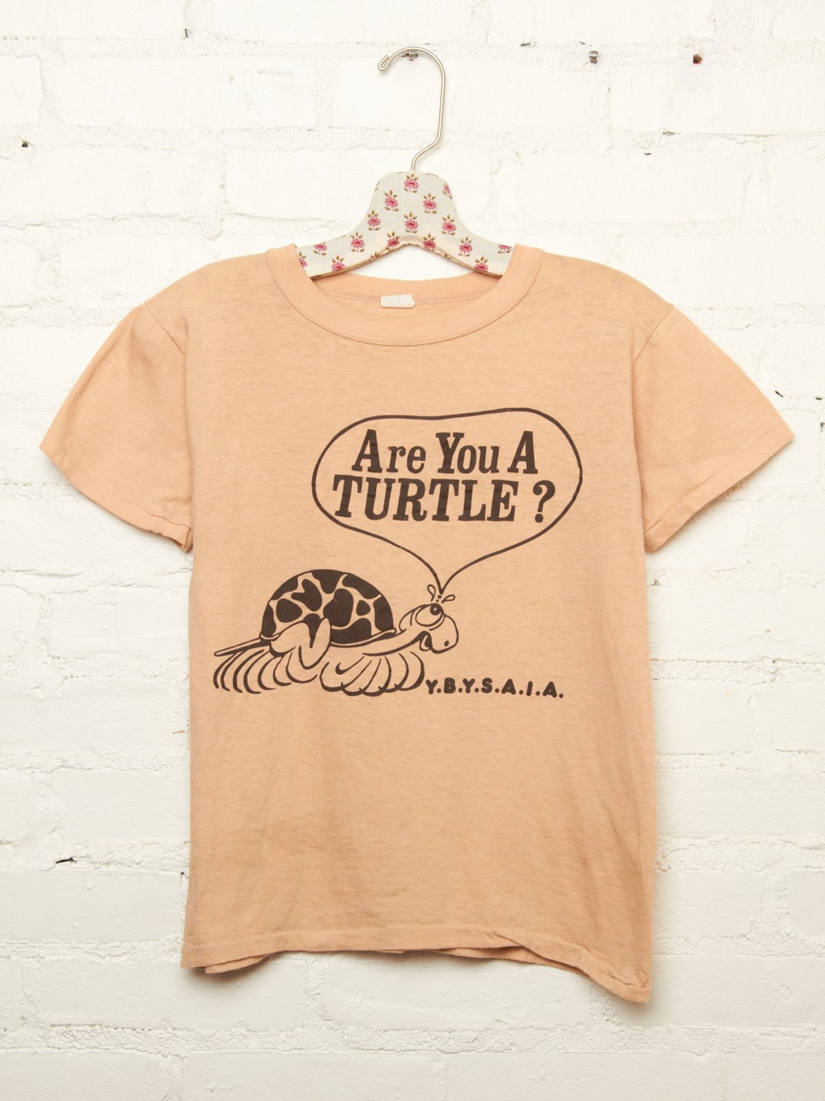 Vintage Are You A Turtle Tee