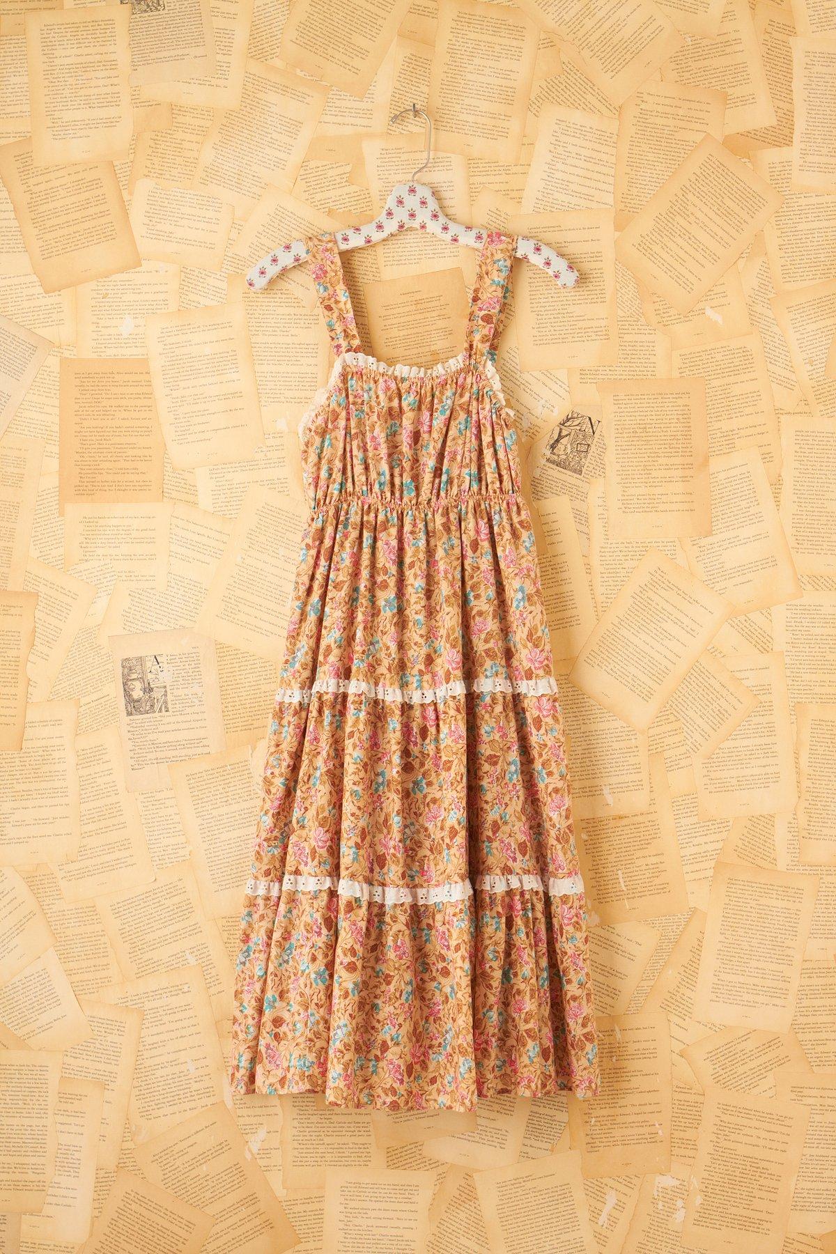 Vintage 70s Tiered Prairie Dress