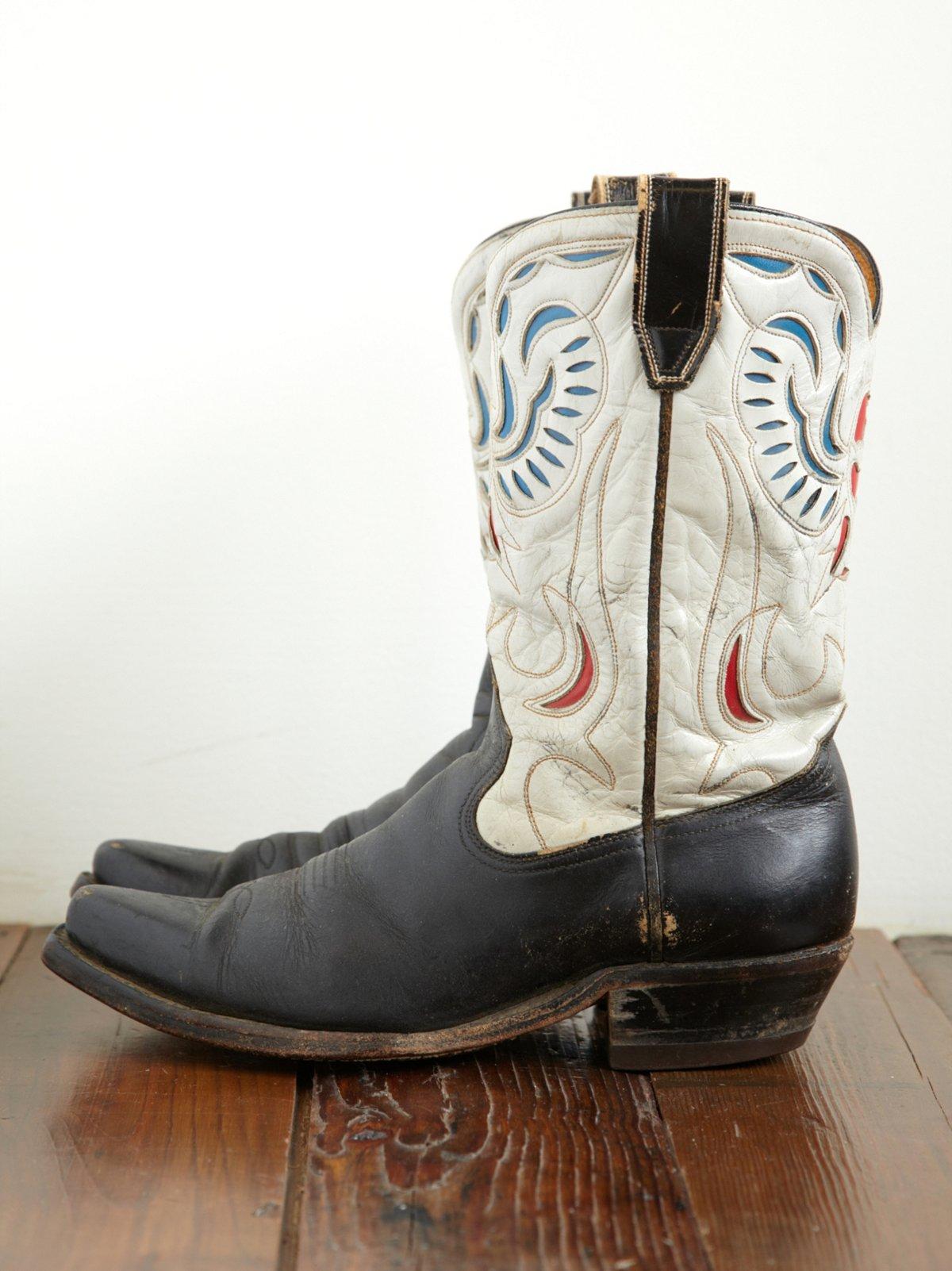 Vintage 1950s Eagle Design Acme Western Boot