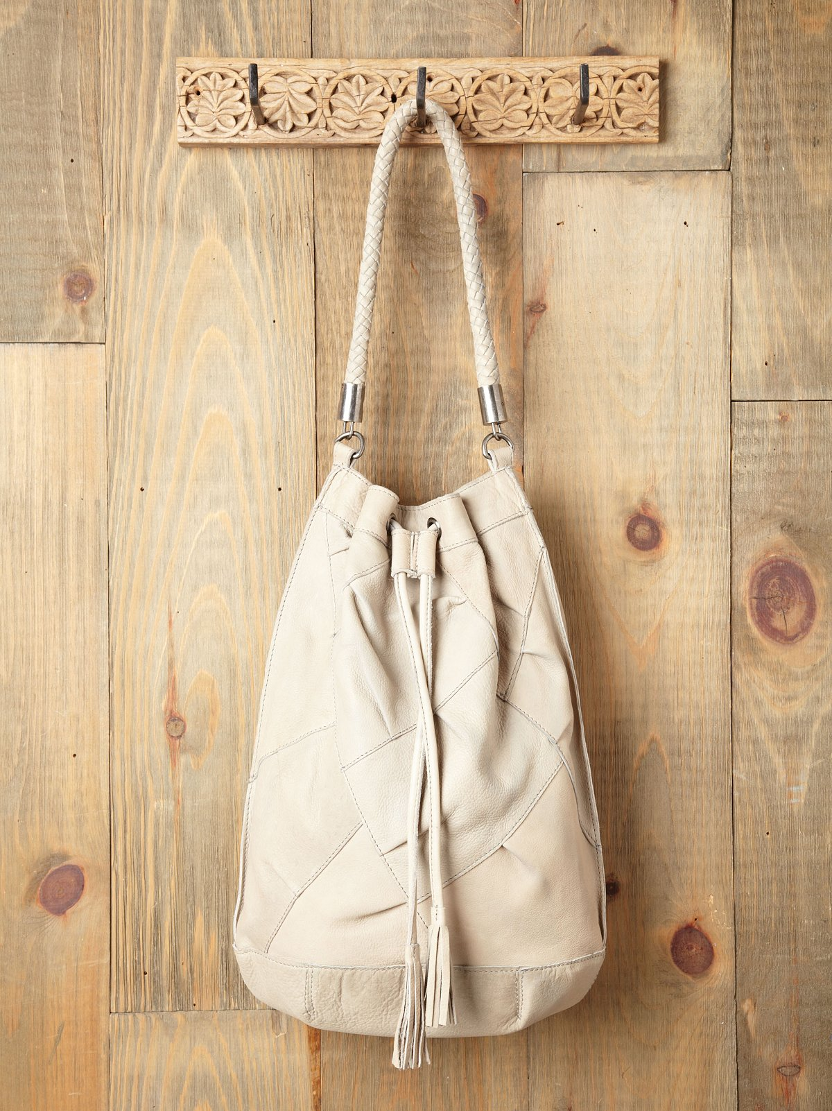 Karina Patched Bucket Tote