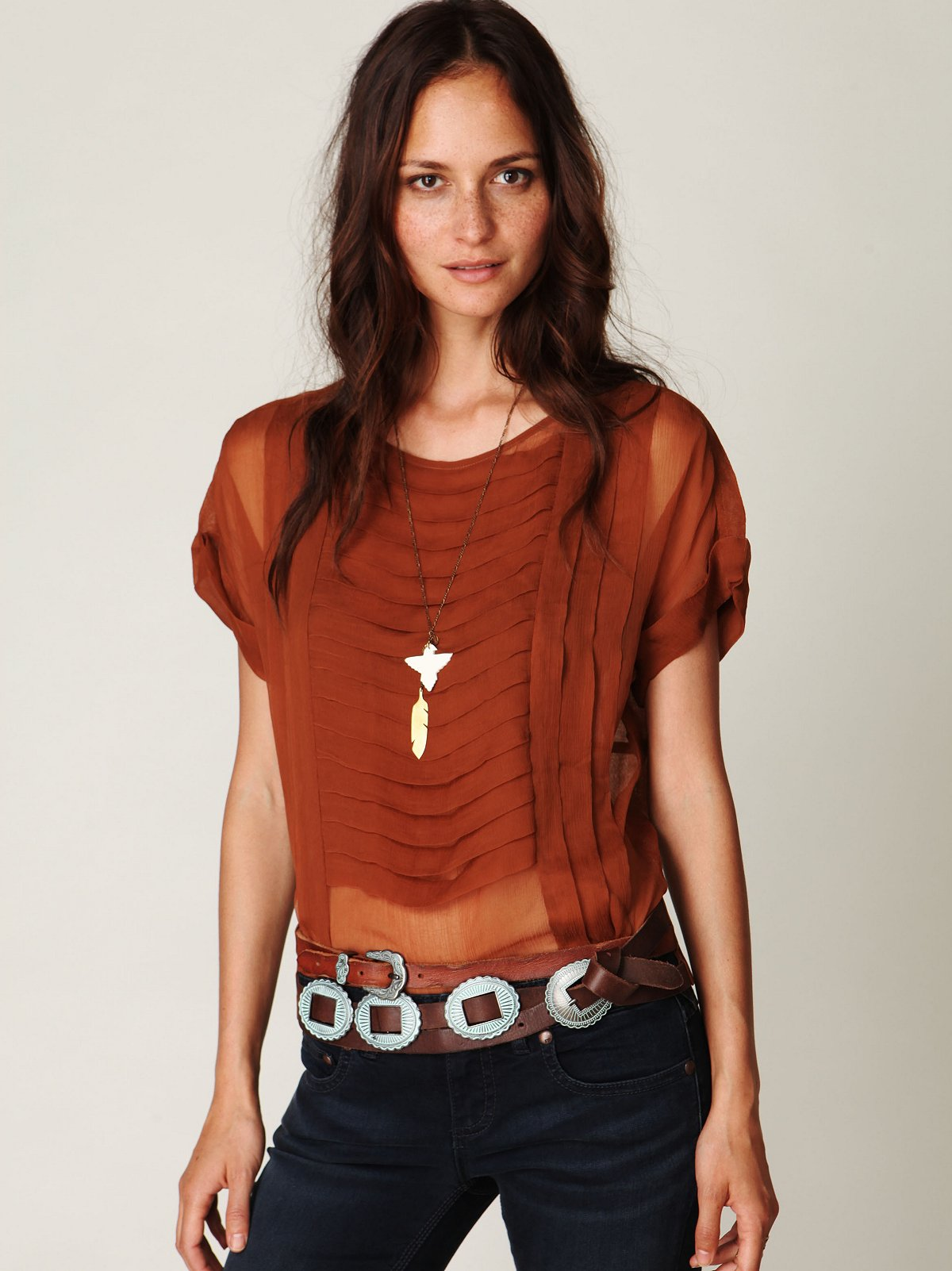 Wrapped Concho Waist Belt