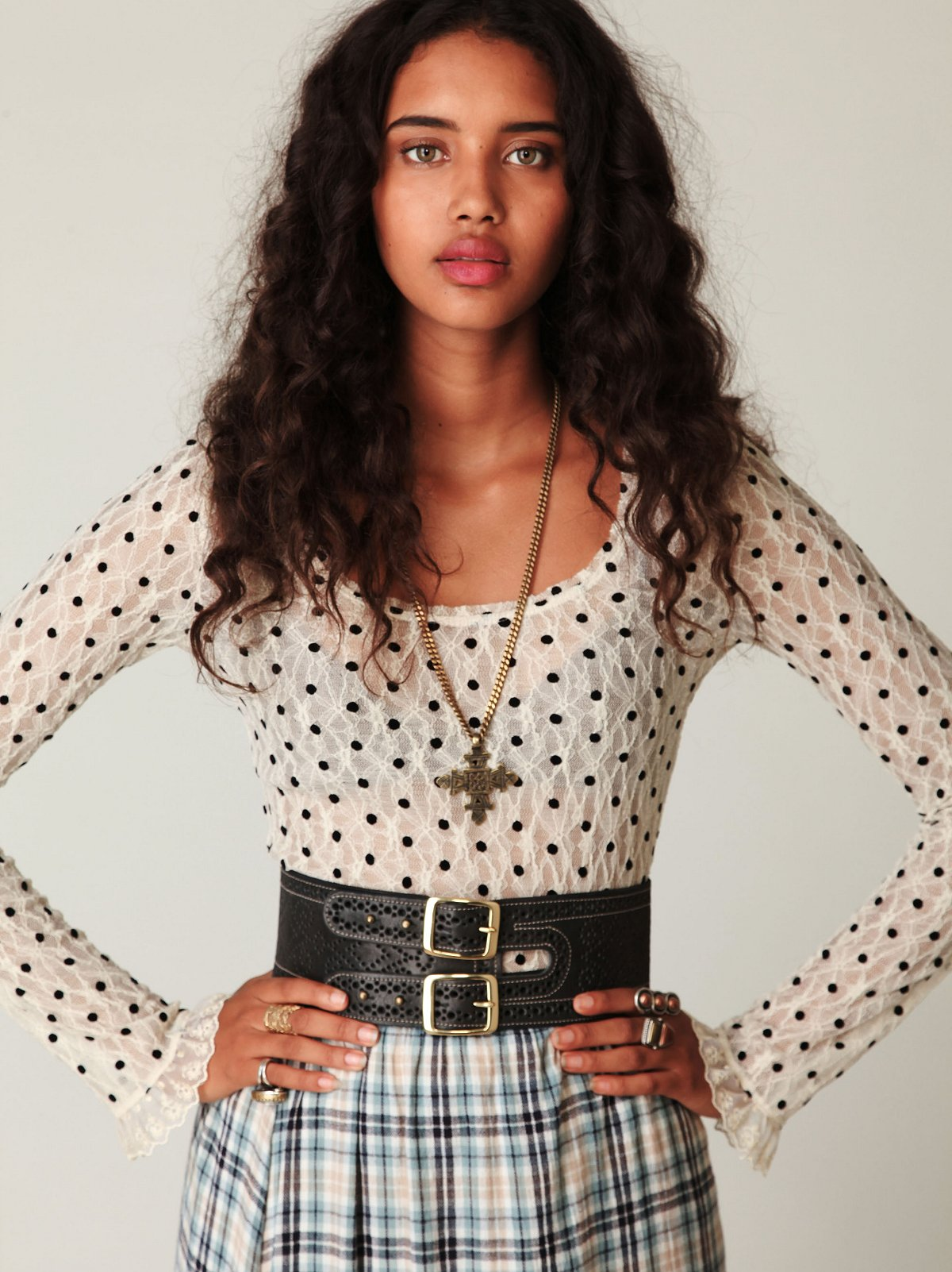 Dotted Lace Tee